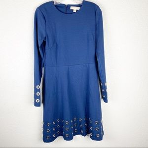 Michael Michael Kors Blue Dress With Silver Rings